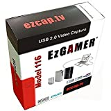 EZCAP.TV 116 EzGAMER USB 2.0 Game Capture Device. Capture gaming footage live. Supports Xbox 360, PS3, Wii, any console with AV composite output. Play in Standard Definition on your TV (not HD) record on your pc in Standard Definition at the same time. 24K gold spltters/leads included. Render footage on the fly to 720p HD. Upload to youtube or convert for iphone, android, etc. Stream your gaming live to Skype, MSN, Justin tv, etc. For Windows XP/Vista/7/8 32/64 bit, Mac OS X 10.5.8 onwards