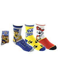 Paw Patrol Boys Sport Socks 3 Pairs Size 4-6