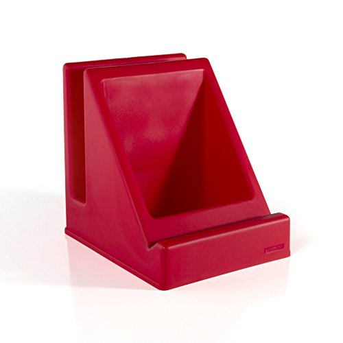 Guidecraft Tabletop Audio Storage Center - Red, Desk Accessories, Tablet Book Stand - Office Product (Desk Modern Guidecraft)