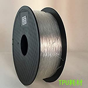 TongLingUSL TPU 3D Filament Flexible Soft 3D Printing Material Filament Flex 1.75mm Printer Modeling (Color : 1kg Transparent, Size : Free) 12