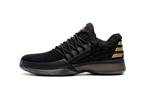Mens Harden Vol.1 Basketball Shoes Black-Golden 43EU=9.5 D(M)US (James Harden Shoes)