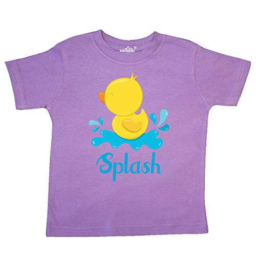 inktastic Ducky Splash Toddler T-Shirt 4T Lavender