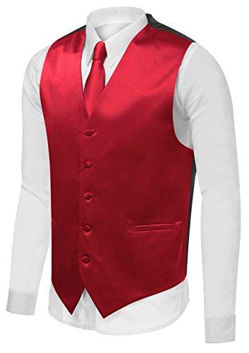 Red Tuxedo Vest - 4