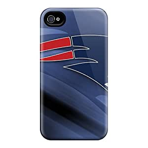 Excellent Hard Cell-phone Cases For Iphone 4/4s With Unique Design Trendy New England Patriots Image LauraAdamicska