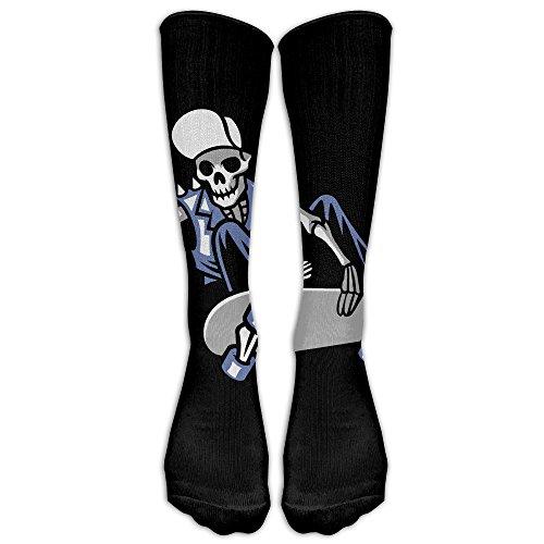 NavyLife Men's Premium Quality Skull Punk Ride Skateboard Fitness Novelty Crew Athletic Socks Knee High Sock ()