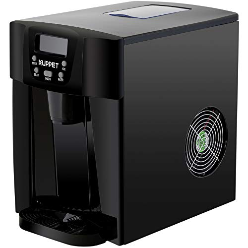 KUPPET 2 in 1 Countertop Ice Maker Water Dispenser, Ready in 6min, Produces 36 lbs Ice in 24 Hours, LED Display ()