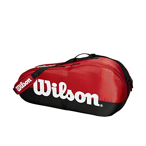 Wilson Team 1 Compartment Tennis Bag, Black/Red