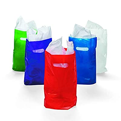 Assorted Colored Plastic Bags (50 pc): Toys & Games