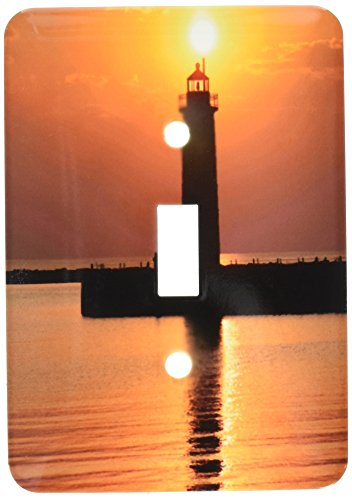 (3dRose lsp_91212_1 Mi, Muskegon Lighthouse On Lake Michigan Us23 Rer0002 Ric Ergenbright Single Toggle Switch)