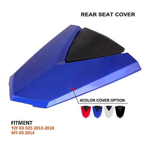 AnXin Motorcycle Blue Rear Seat Cowl Passenger Pillion Fairing Tail Cover For Yamaha YZF R3 R25 2013-2018,MT-03 2014