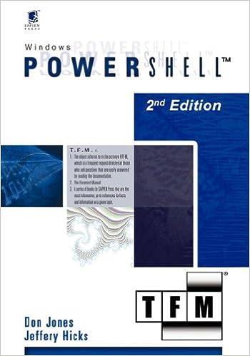 Windows PowerShell v1.0: TFM, 2nd Edition