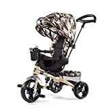 Children's Tricycle Three-Wheel Bicycle Folding Deformation Balance Car 4 in 1