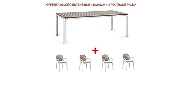 Nardi Garden - Juego de muebles de jardín: mesa extensible Alloro ...