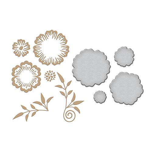 (Spellbinders GLP-037 Flowers by Becca Feeken Glimmer Hot Foil Plate, Metal)