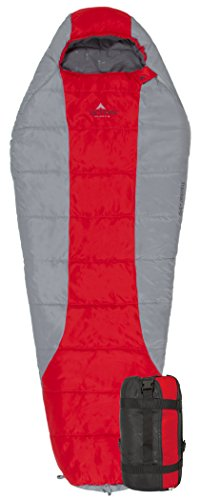 Teton Sports Tracker Ultralight Mummy Sleeping Bag; Lightweight Backpacking Sleeping Bag for Hiking and Camping Outdoors; All Season Mummy Bag; Sleep Comfortably Anywhere; Red/Grey Review