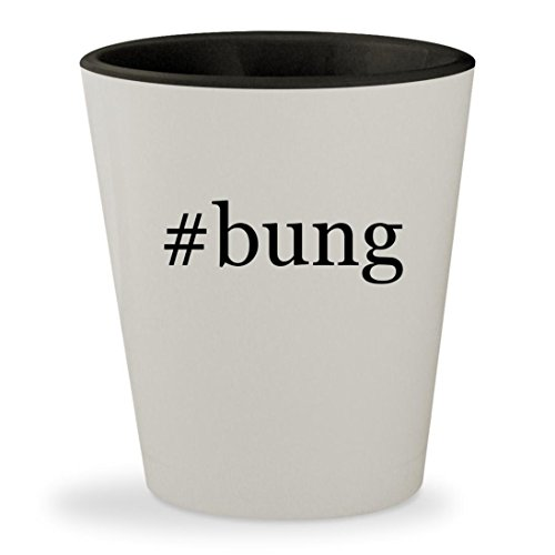 #bung - Hashtag White Outer & Black Inner Ceramic 1.5oz Shot Glass
