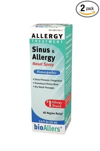 Amazoncom Bioallers Sinus And Allergy Nasal Spray 08 Ounce Pack