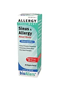 Bioallers Sinus and Allergy Nasal Spray, 0.8-Ounce (Pack of 2)