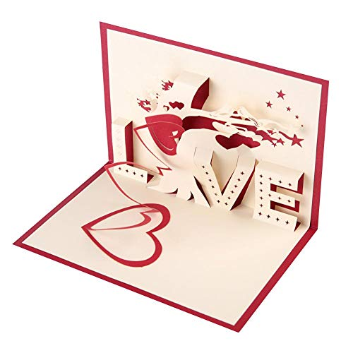 Wifehelper Greeting Cards Three-Dimensional Exquisite Pop Up Postcard Birthday Party Valentine's Day Anniversary Friends Gifts(#4-Love Tree) from Wifehelper