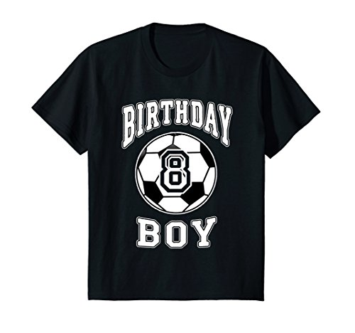 Kids Soccer Bday 8th Birthday Boy shirt for 8 Years Old Gift Idea -
