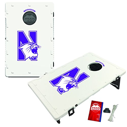 Victory Tailgate Northwestern Wildcats Baggo Cornhole Boards Set, NCAA Classic (Includes Matching Bags!)