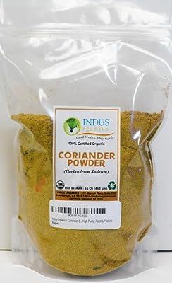 Indus Organics Coriander, Premium Grade, High Purity, Freshly Packed