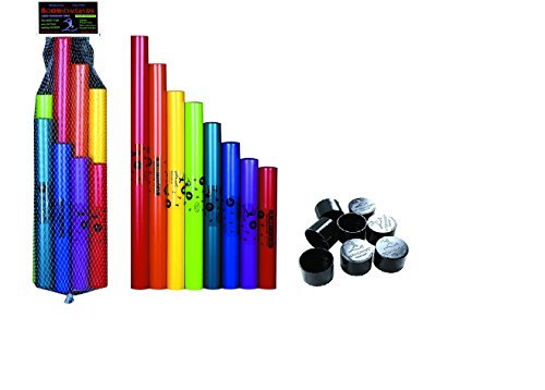Boomwhackers C Major Diatonic Scale Set with Octavator Caps 8-Pack by Boomwhackers