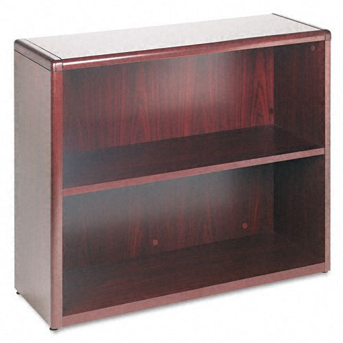 (HON 10700 Series Bookcase, 2 Shelves, 36 W by 13-1/8 D by 29-5/8 H, Mahogany)