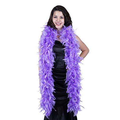 ZUCKER Heavy Weight Chandelle Feather boa Solid Colors - Lavender - Lavender Boa