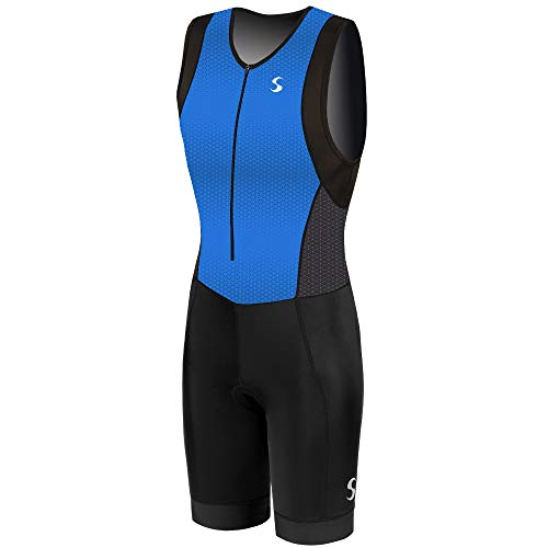 Synergy Triathlon Tri Suit Men's Trisuit (Blue/Geo, Small) by Synergy (Image #7)