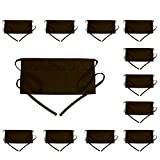 BOHARERS Waist Apron with 3 Pockets 12 Pack - Brown