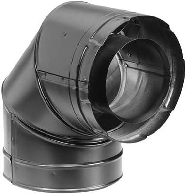 """DURAVENT DirectVent Pro 4/"""" x 6-5//8/"""" 90 Degree Galvanized Elbow #46DVA-E90"""