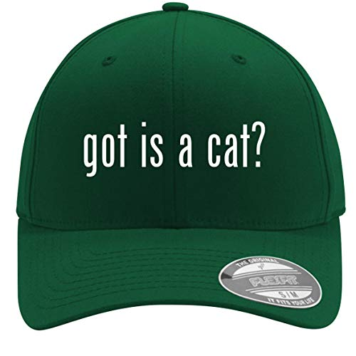 got is a cat? - Adult Men's Flexfit Baseball Hat Cap, Forest, Small/Medium