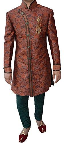 INMONARCH Mens Superb Designer Bollywood Indowestern IN258 36S Salmon