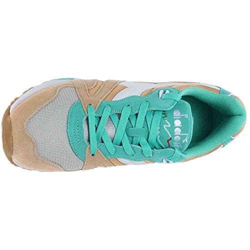 Diadora Menns N9000 Nyl Sneaker Golden Halm / Bermuda Green