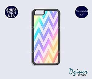 iPhone 6 Case - 4.7 inch model - Rainbow Chevron iPhone Cover