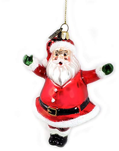 Eric Cortina Retro Santa Claus Christmas Glass Ornament (Ornaments Glass Santa Claus)