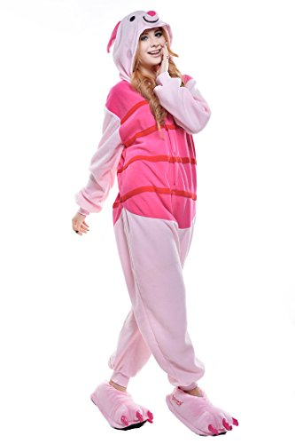 NEWCOSPLAY Halloween Unisex Adult Pajamas Cosplay Costumes (XL, Piglet Pig)
