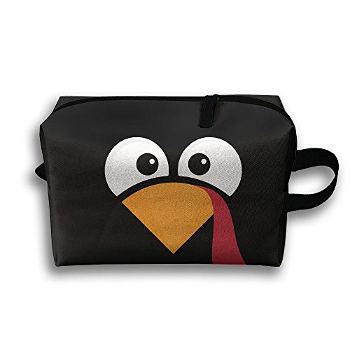 Travel Pouch Storage Bags Baskets Turkey Face THIS IS WHAT I'M THANKFUL FOR Cosmetic Makeup Bag 45x35cm