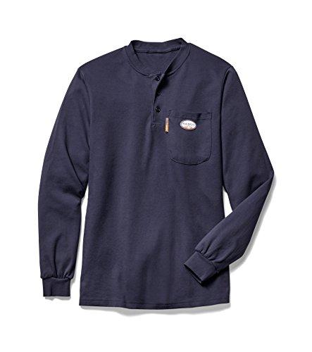 Rasco FR Men's Navy Henley T-Shirt