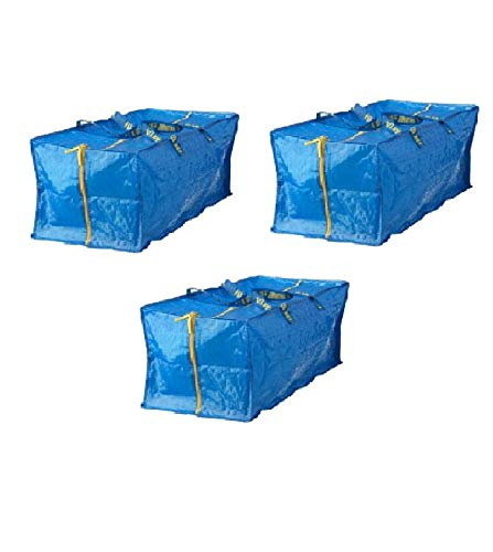 Ikea Frakta Storage Bag,Extra Large - Blue -- SET OF 3