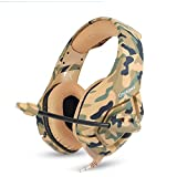 ONIKUMA Gaming Headset, Over Ear Noise Cancelling Headphones with Microphone, Volume Control for Nintendo Switch Playstation 4 New Xbox One Laptop Tablet Mobile Phone-Camouflage
