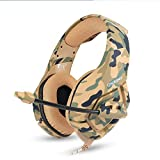 Stereo Gaming Headset for PC, PS4, Xbox One, Playstation Games, Noise Cancelling Over Ear Headphones for Laptop, Nintendo Switch(Camouflage)