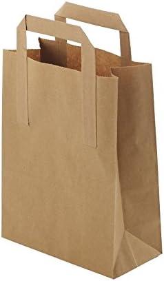 BIOZOYG Bolsas Grandes de Papel respetuosas del Medio Ambiente I Bolsas de Regalo Bolsas de Papel biodegradables, compostables I 250 x Bolsas de Papel marrón 26 x 12 x 35 cm