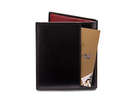 SAGEBROWN with Red Billfold Black SAGEBROWN Compact 6CC Wallet Billfold Compact r4Srxna7