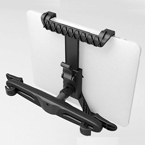 Car Seat Back Headrest Mount Holder Expandable Cradle Base Travel Kit for Verizon Verizon Ellipsis 7 - Verizon Verizon Ellipsis 8 by DNRPrime (Image #7)