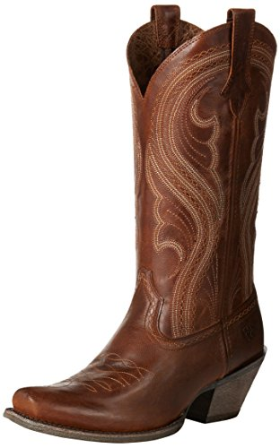 (Ariat Women's Lively Western Cowboy Boot, Sassy Brown, 9.5 B US)