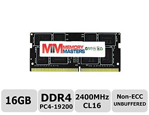 MemoryMasters 16GB DDR4 2400MHz PC4-19200 Non ECC Unbuffered 1.2V CL16 2Rx8 Dual Rank 260 Pin SODIMM Laptop Notebook Computer Memory Ram Module Upgrade (16GB)