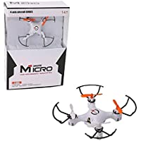 Owill 2.4GHZ Mini 4CH 6-axis Gyro LED Lights 4D Flips Drone RC Quadcopter Headless Mode/ Great Gift For Kids (White)