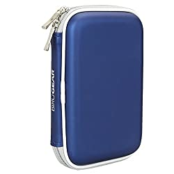 Birugear Hard Shell Carrying Case For Toshiba Canvio 3.0 Portable Hard Driveautomatic Backup Portable Hard Drivecanvio Basics 3.0 Canvio Slimcanvio Connect Ii -Blue